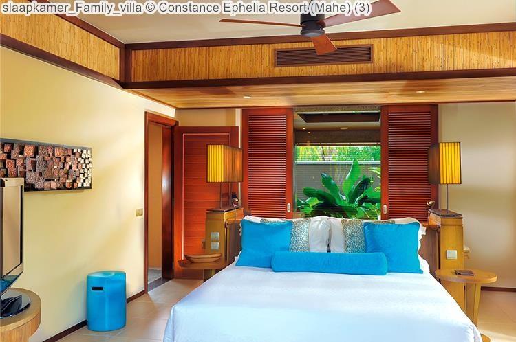 slaapkamer Family villa Constance Ephelia Resort Mahe