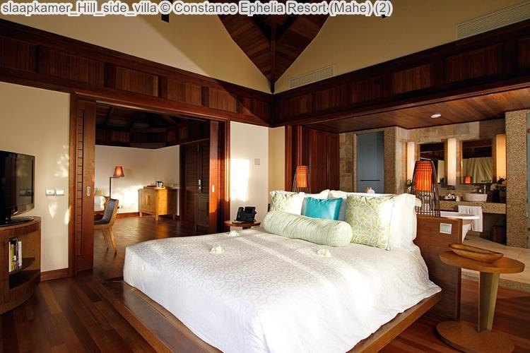 slaapkamer Hill side villa Constance Ephelia Resort Mahe