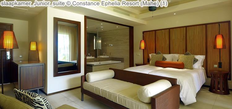 slaapkamer Junior suite Constance Ephelia Resort Mahe