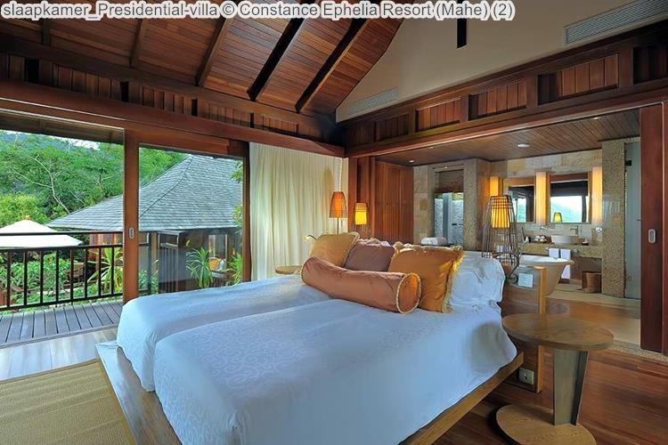 slaapkamer Presidential villa Constance Ephelia Resort Mahe