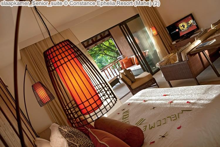 slaapkamer Senior suite Constance Ephelia Resort Mahe