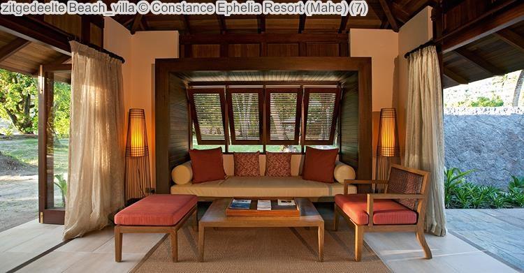 zitgedeelte Beach villa Constance Ephelia Resort Mahe