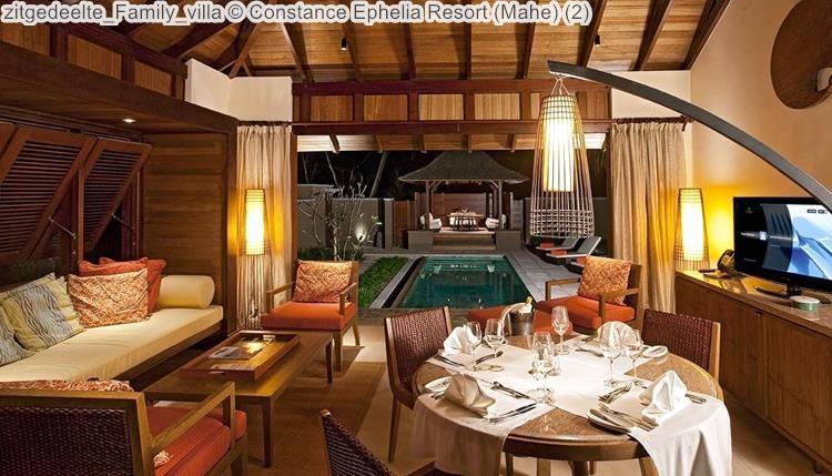 zitgedeelte Family villa Constance Ephelia Resort Mahe