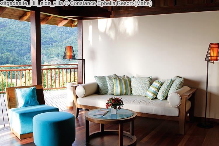 zitgedeelte Hill side villa Constance Ephelia Resort Mahe