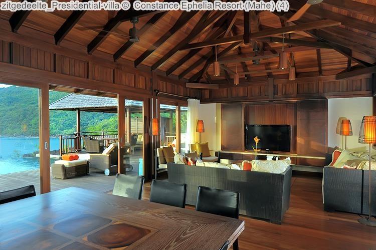 zitgedeelte Presidential villa Constance Ephelia Resort Mahe