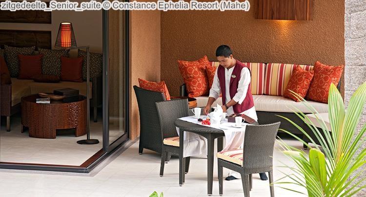 zitgedeelte Senior suite Constance Ephelia Resort Mahe