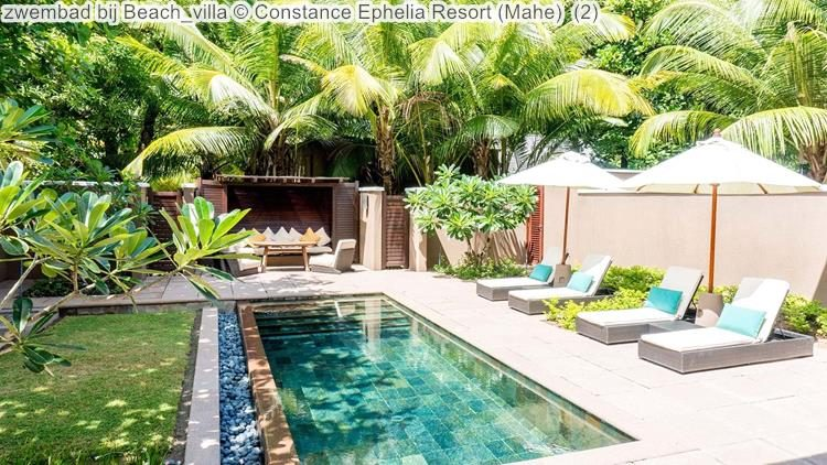 zwembad bij Beach villa Constance Ephelia Resort Mahe