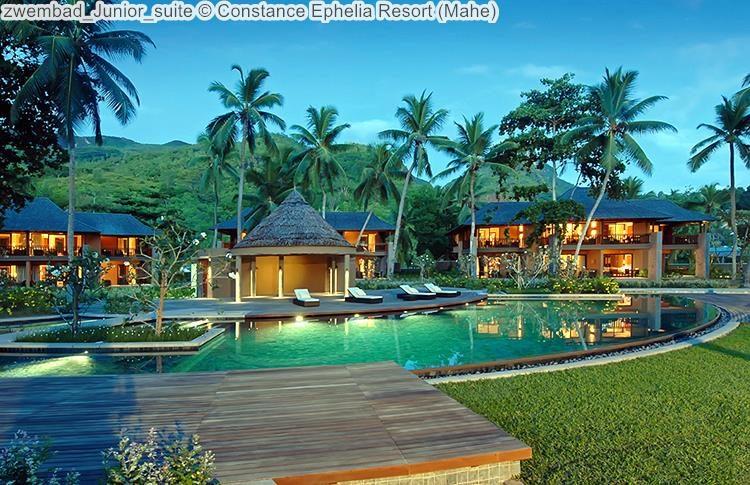 zwembad Junior suite Constance Ephelia Resort Mahe