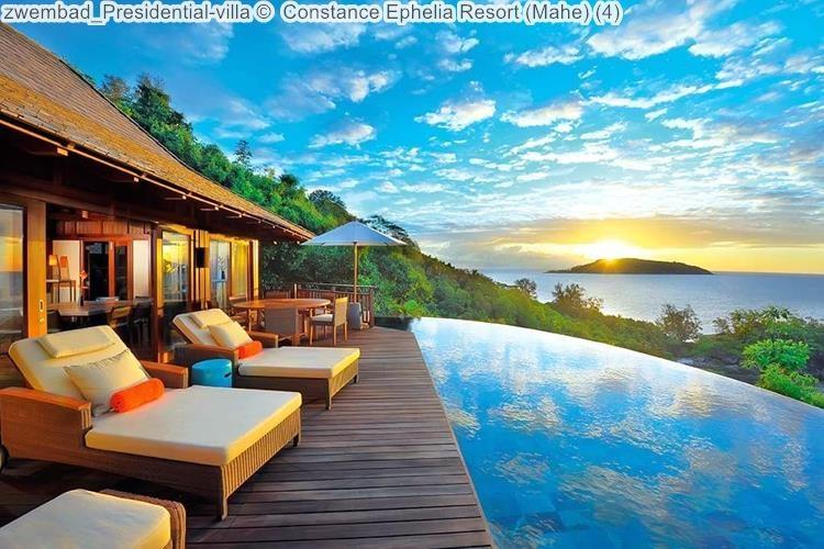 zwembad Presidential villa Constance Ephelia Resort Mahe