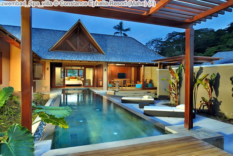 zwembad Spa villa Constance Ephelia Resort Mahe