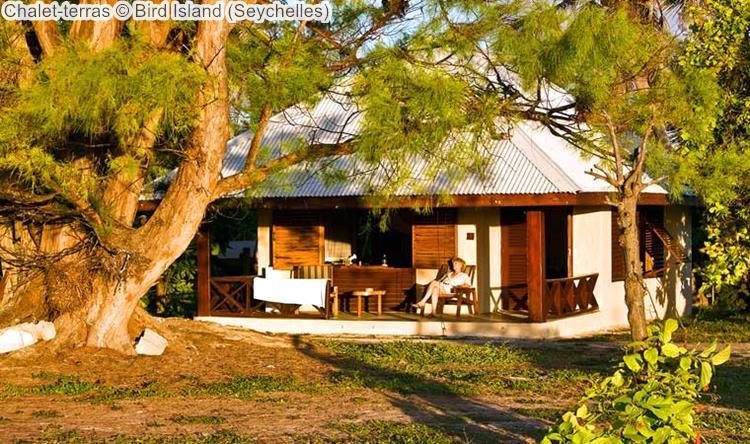 Chalet terras Bird Island Seychelles