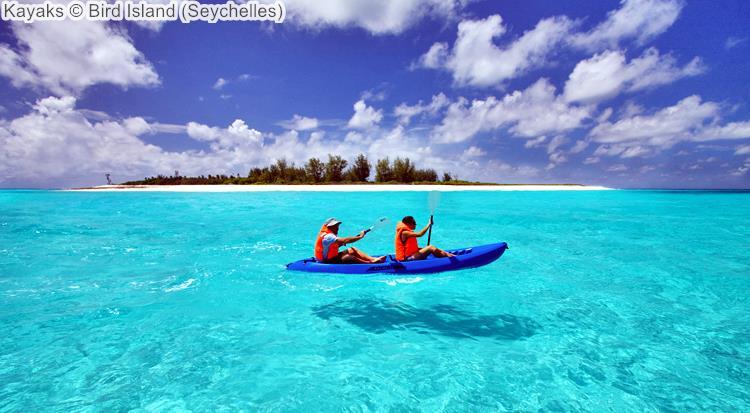 Kayaks Bird Island Seychelles