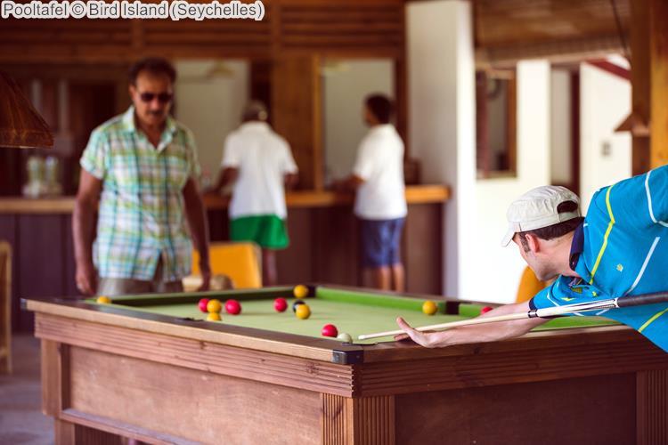 Pooltafel Bird Island Seychelles