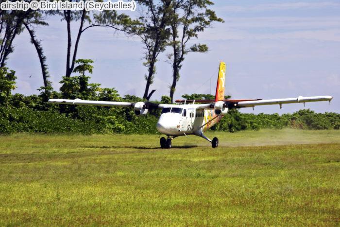 airstrip Bird Island Seychelles