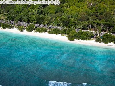 luchtgezicht Hilton Labriz Seychelles