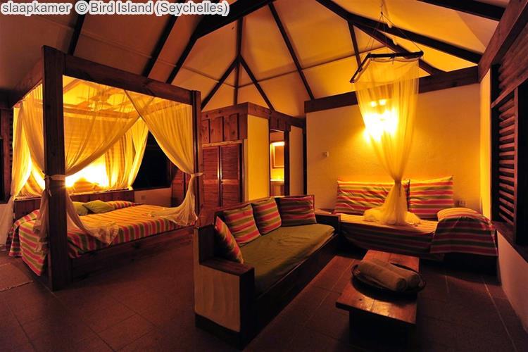 slaapkamer Bird Island Seychelles