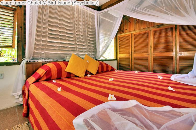 slaapkamer Chalet Bird Island Seychelles