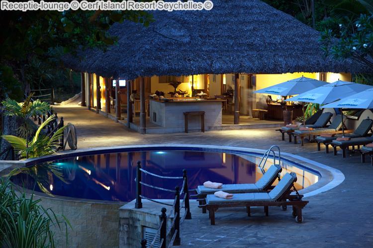 Receptie lounge Cerf Island Resort Seychelles