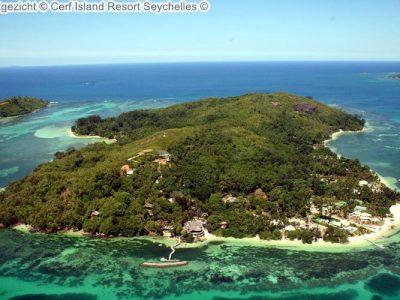 luchtgezicht Cerf Island Resort Seychelles
