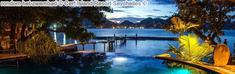 rondom het zwembad Cerf Island Resort Seychelles
