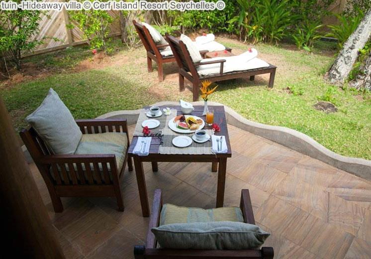 tuin Hideaway villa Cerf Island Resort Seychelles