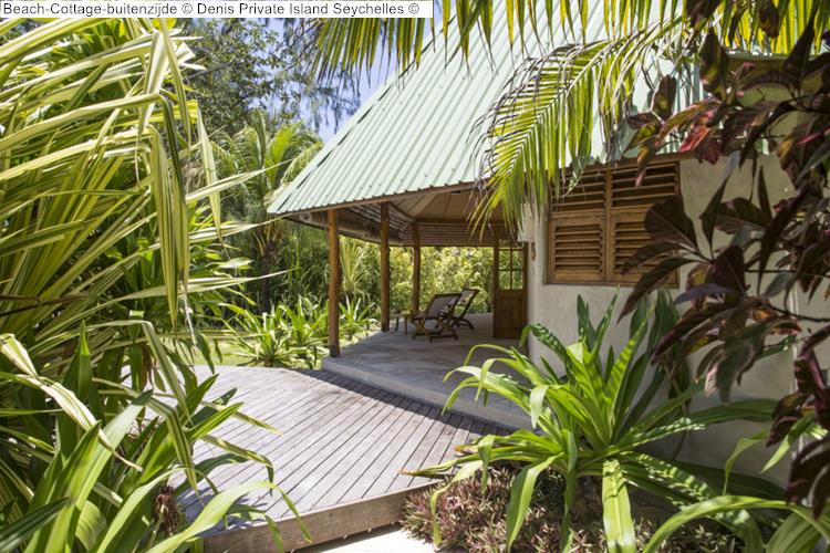 Beach Cottage buitenzijde Denis Private Island Seychelles
