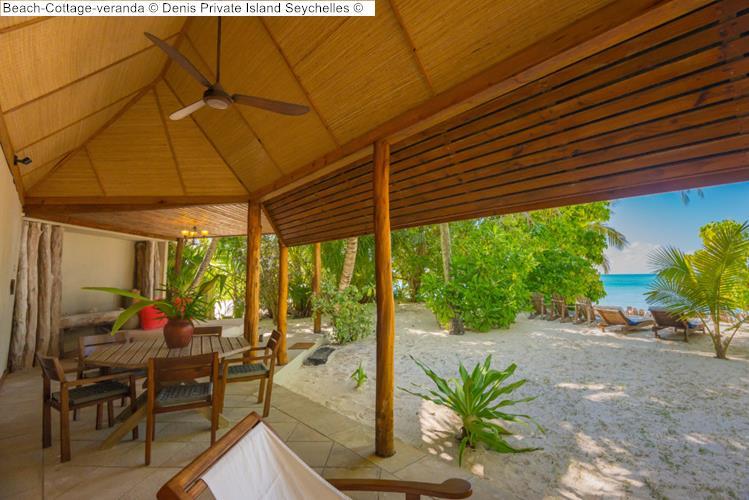 Beach Cottage veranda Denis Private Island Seychelles