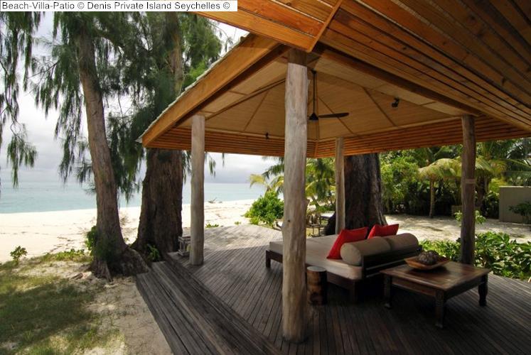 Beach Villa Patio Denis Private Island Seychelles