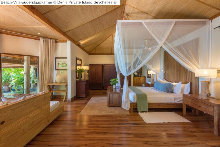 Beach Villa ouderslaapkamer Denis Private Island Seychelles