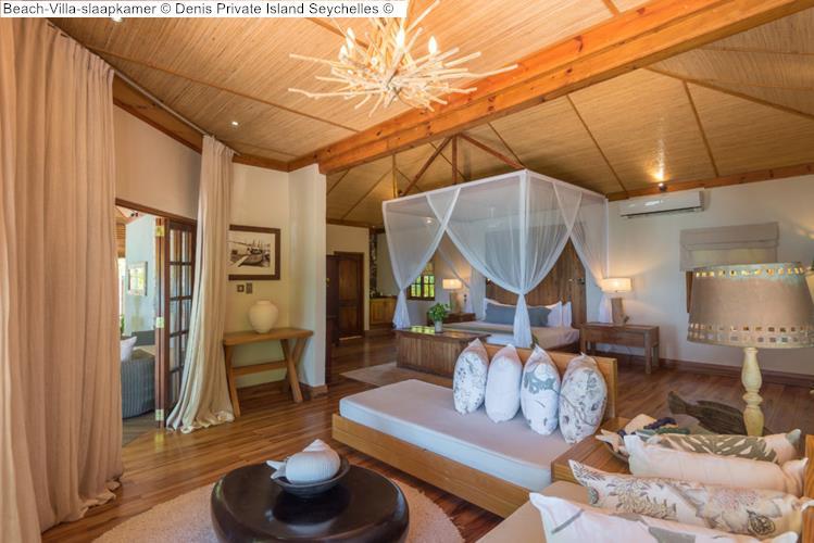 Beach Villa slaapkamer Denis Private Island Seychelles