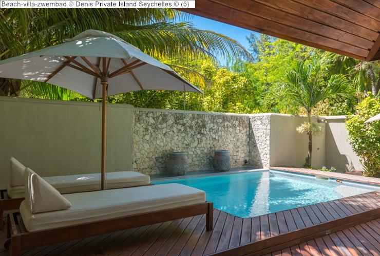 Beach villa zwembad Denis Private Island Seychelles