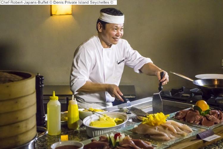 Chef Robert Japans Buffet Denis Private Island Seychelles