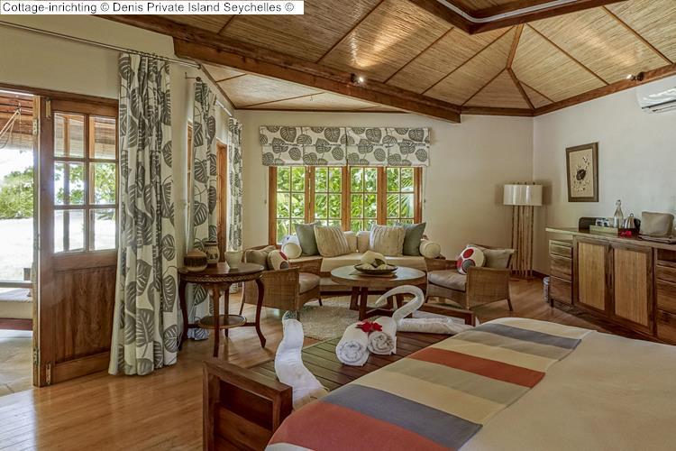Cottage inrichting Denis Private Island Seychelles