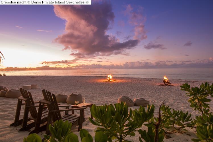 Creoolse nacht Denis Private Island Seychelles
