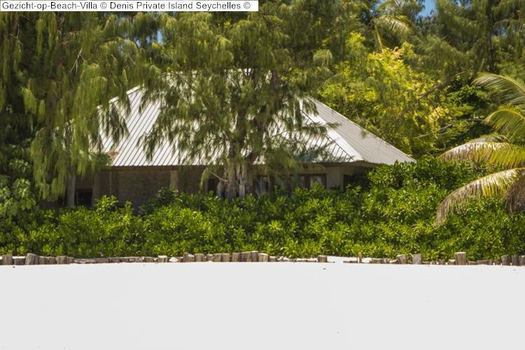 Gezicht op Beach Villa Denis Private Island Seychelles