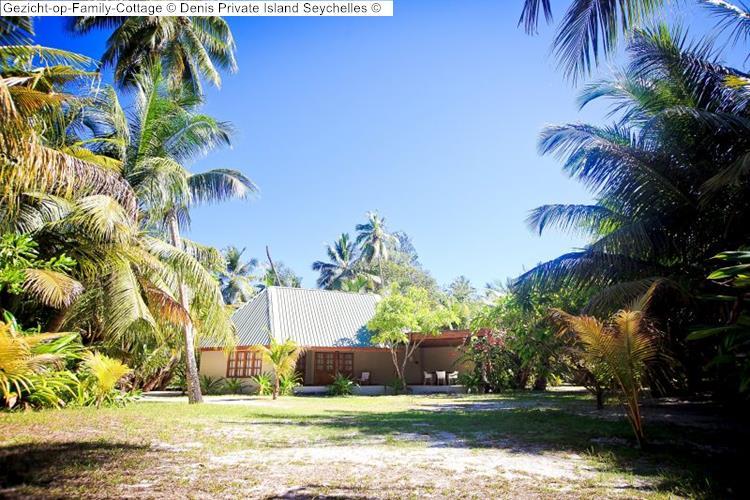 Gezicht op Family Cottage Denis Private Island Seychelles