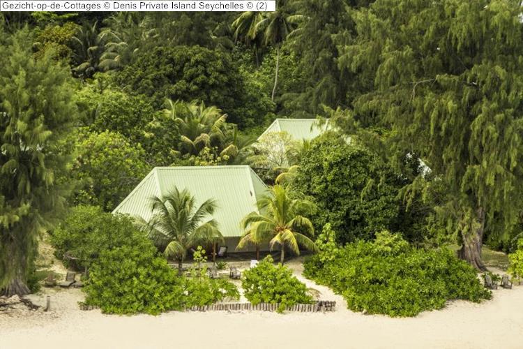 Gezicht op de Cottages Denis Private Island Seychelles