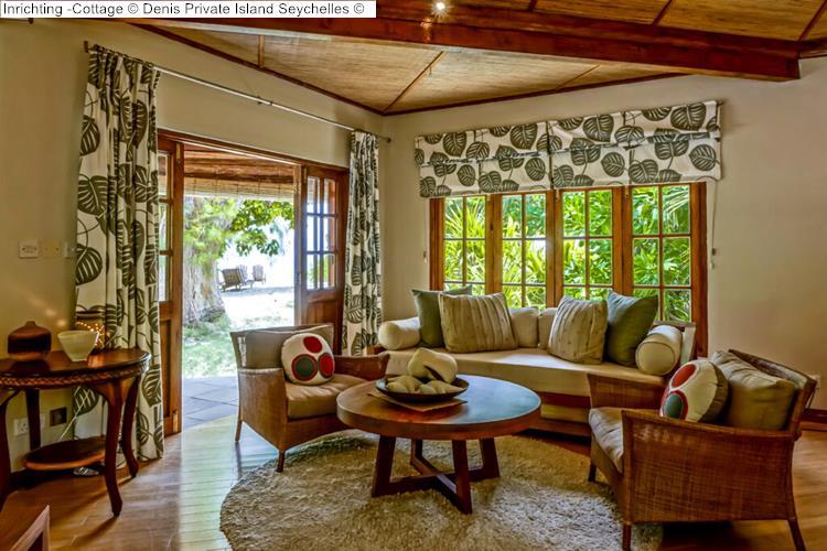Inrichting Cottage Denis Private Island Seychelles