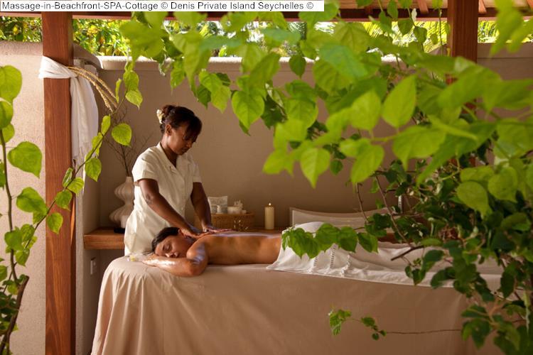 Massage in Beachfront SPA Cottage Denis Private Island Seychelles
