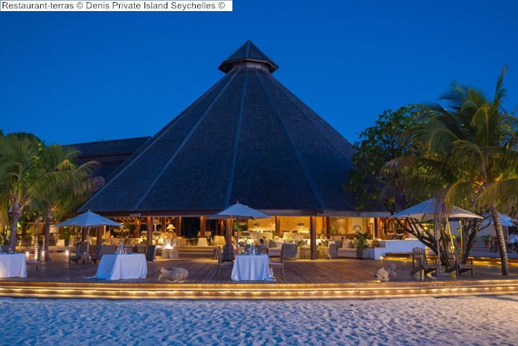 Restaurant terras Denis Private Island Seychelles