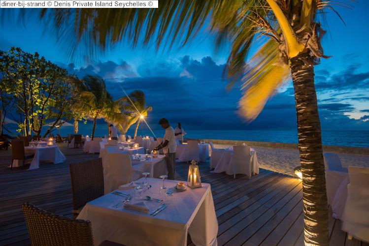 diner bij strand Denis Private Island Seychelles