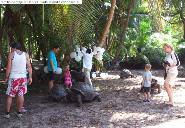 familie partijtje Denis Private Island Seychelles