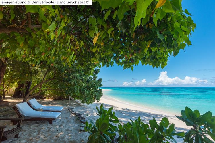 je eigen strand Denis Private Island Seychelles