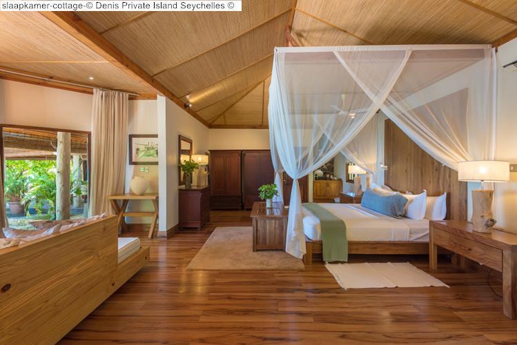 slaapkamer cottage Denis Private Island Seychelles