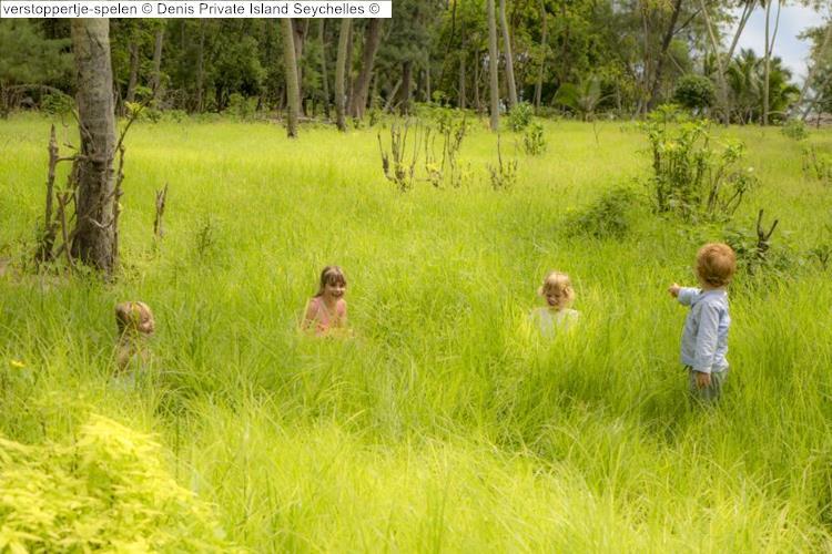 verstoppertje spelen Denis Private Island Seychelles