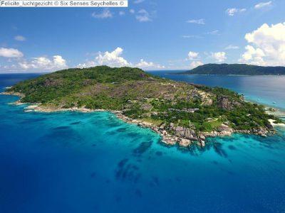 Felicite luchtgezicht Six Senses Seychelles