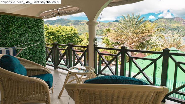 balcony Villa de Cerf Seychelles