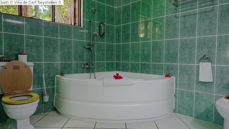 bath Villa de Cerf Seychelles