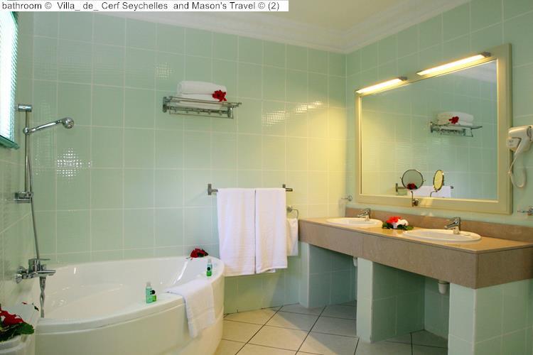 bathroom Villa de Cerf Seychelles and Mason's Travel