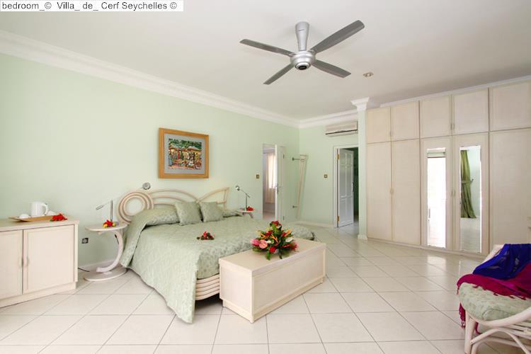 bedroom Villa de Cerf Seychelles
